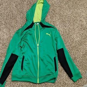 Boys puma lightweight hoodie new